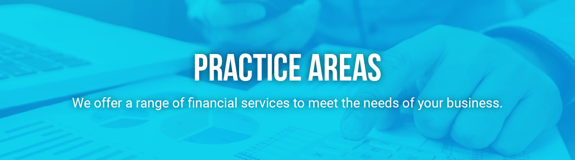 Practice Areas - We offer a range of financial services to meet the needs of your business.